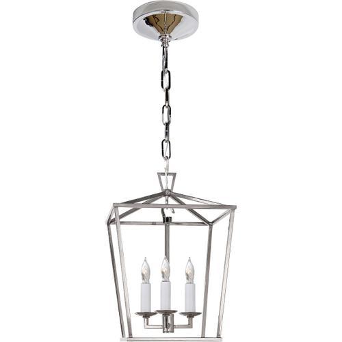 - E. F. Chapman Darlana 3 Light 10 inch Polished Nickel Foyer Pendant Ceiling Light