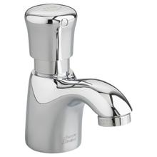 View Product - Pillar Tap Metering Faucet  Extended Spout - Mechanical Mixing Valve  1.0 GPM  American Standard - Polished Chrome