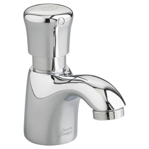 American Standard - Pillar Tap Metering Faucet  Extended Spout  1.0 GPM  American Standard - Polished Chrome
