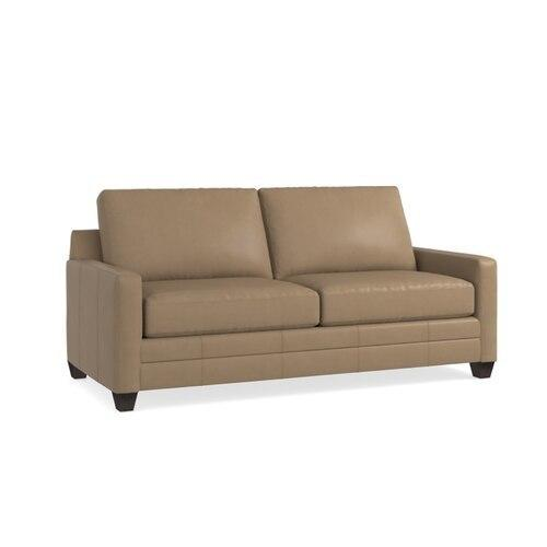 Carolina Leather Thin Track Arm Sofa