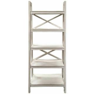 See Details - Ww X Brace Ladder Bookshelf
