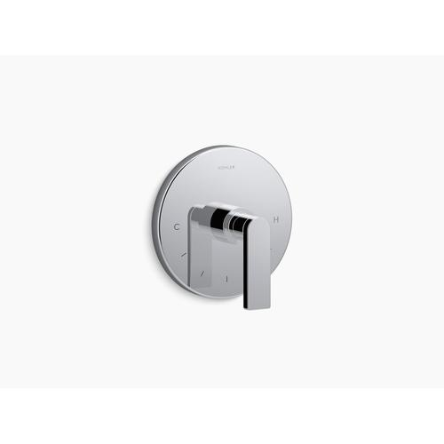 Kohler - Polished Chrome Valve Trim With Lever Handle for Thermostatic Valve, Requires Valve