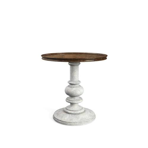 Thoroughbred Bridle Side Table Round - Toast