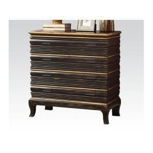 Antique Gold/bk Console Table