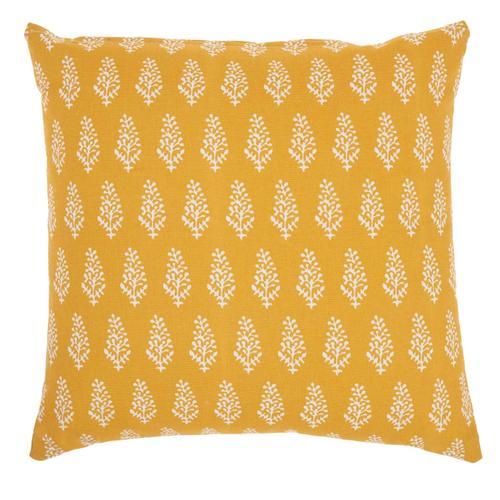 "Life Styles Ss910 Yellow 18"" X 18"" Throw Pillow"