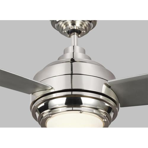 """56"""" Aerotour - Polished Nickel with Grey Blades"""