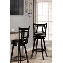 Fairfox Swivel Bar Stool - Black