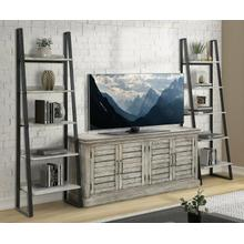 PRAIRIE Console w/ Pair of Etagere Bookcase Piers
