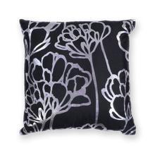 "L299 Black Blossom Pillow 18"" X 18"""
