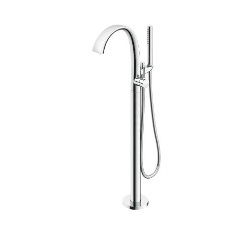 ZN Freestanding Tub Filler - Polished Chrome Finish