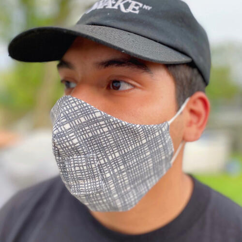 Happy Hour Reusable Face Mask in Otto Charcoal