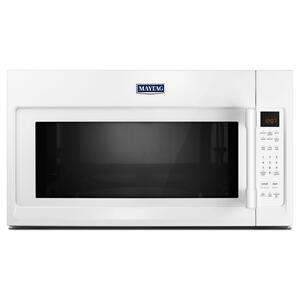 Over-The-Range Microwave With Interior Cooking Rack - 2.0 Cu. Ft. White - WHITE