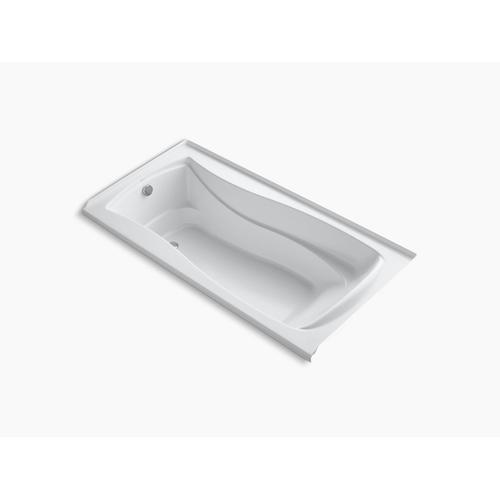 "White 72"" X 36"" Alcove Bath With Bask Heated Surface and Left-hand Drain"
