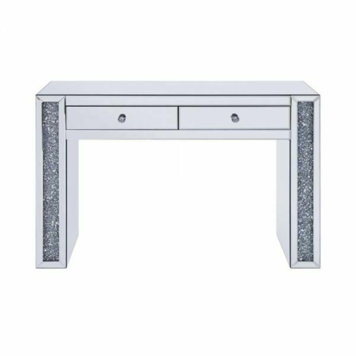 ACME Noralie Vanity Desk - 90465 - Mirrored & Faux Diamonds