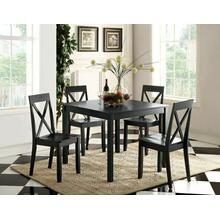 ACME Zlipury 5Pc Pack Dining Set - 72510 - Black