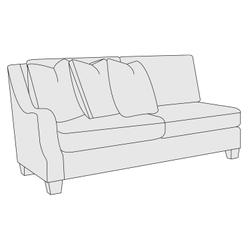 Larson Left Arm Loveseat in Mocha (751)