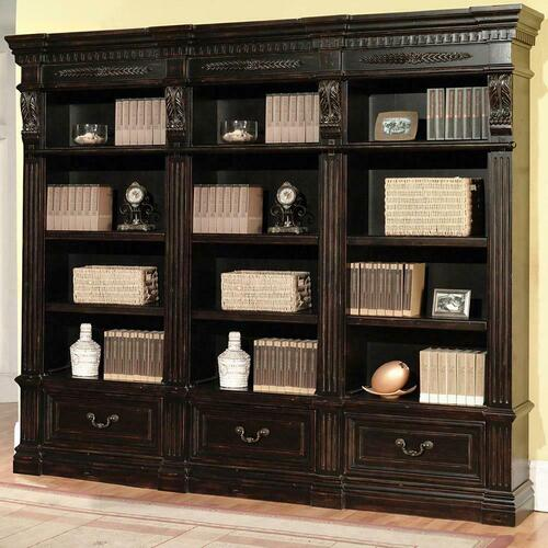 Parker House - GRAND MANOR PALAZZO 3 piece Museum Bookcase (9030 and 2-9031)
