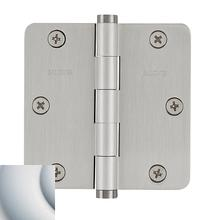 "Satin Chrome 1/4"" Radius Corner Hinge"