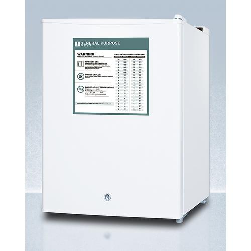 Compact Manual Defrost All-freezer for General Purpose Use, With Lock and Reversible Door