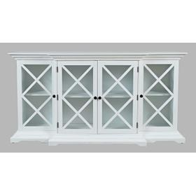 Carrington Large Breakfront Cabinet - White