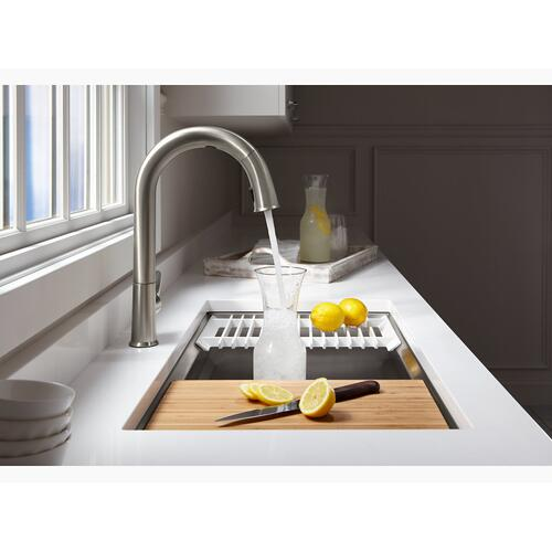 """Oil-rubbed Bronze Touchless Kitchen Faucet With 15-1/2"""" Pull-down Spout, Docknetik Magnetic Docking System and A 2-function Sprayhead Featuring the New Sweep Spray"""