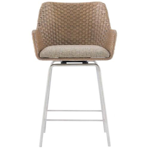 Meade Swivel Counter Stool in Gray Mist