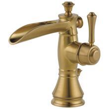 Champagne Bronze Single Handle Channel Bathroom Faucet