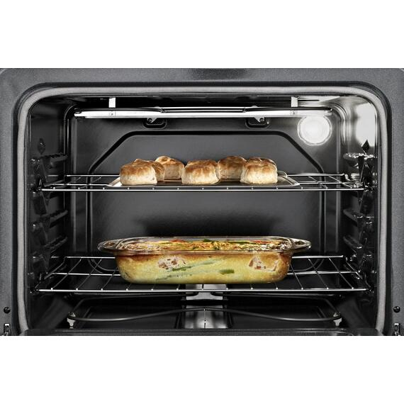 4.8 Cu. Ft. Freestanding Electric Range with FlexHeat Dual Radiant Element Black-on-Stainless