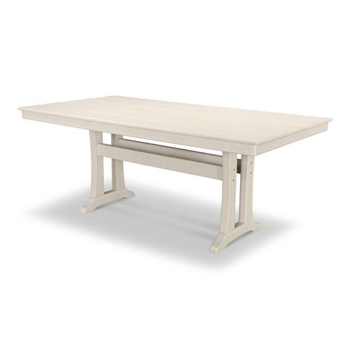 "Sand Farmhouse Trestle 37"" x 72"" Dining Table"