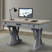 AMERICANA MODERN - DOVE 56 in. Power Lift Desk (from 23 in. to 48.5 in.) (AME#256T and LIFT#200WHT) Product Image