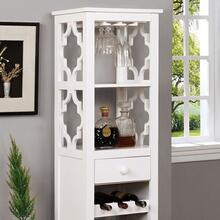 See Details - Akaska Wine Cabinet W/ Foldable Table