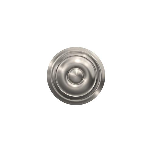 Custom Georgian Non-Turning Knob with Alden Trim - Satin Nickel