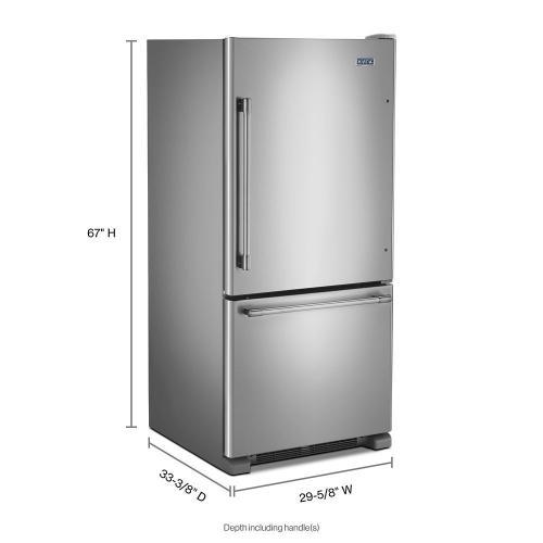 Maytag - 30-Inch Wide Bottom Mount Refrigerator - 19 Cu. Ft.