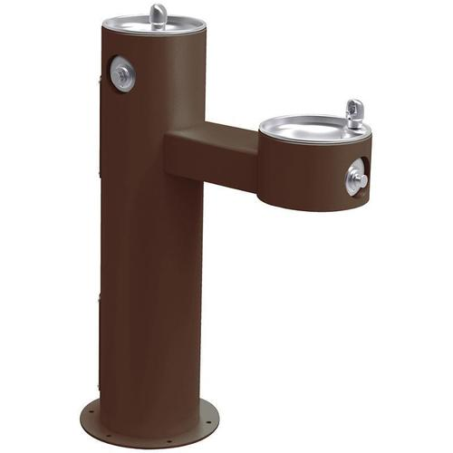 Elkay - Elkay Outdoor Fountain Bi-Level Pedestal Non-Filtered, Non-Refrigerated Freeze Resistant Brown