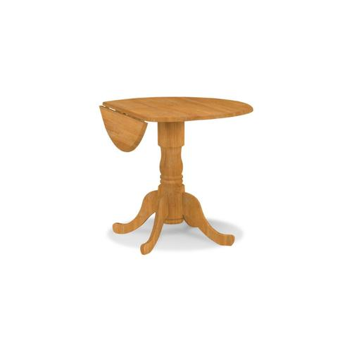 Product Image - Round Dropleaf Pedestal Table