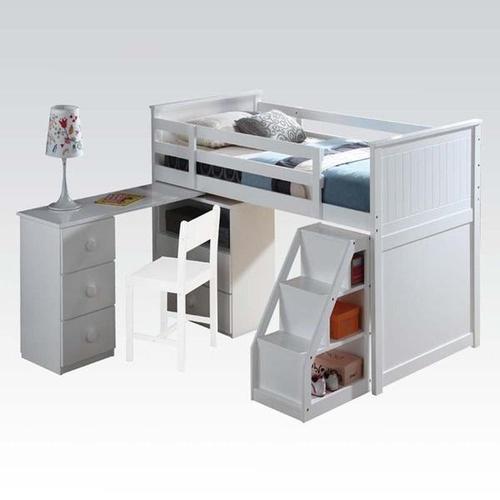 KIT - WHITE TWIN LOFT BED