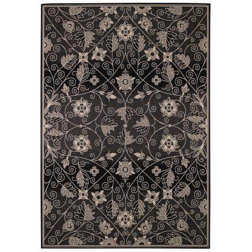 Finesse-Garden Maze Black Machine Woven Rugs