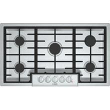 """View Product - 800 Series, 36"""" Gas Cooktop, 5 Burners, Stainless Steel"""