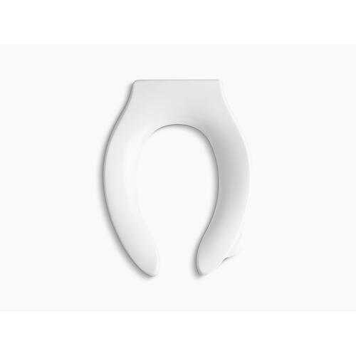 White Elongated Toilet Seat With Integrated Handle and Quiet-close Check Hinge
