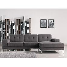 View Product - Divani Casa Forli - Modern Grey Fabric Right Facing Sectional Sofa