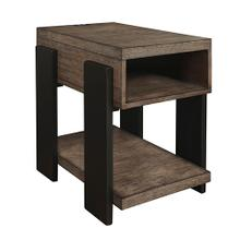 Chairside Table - Clay/Black Finish