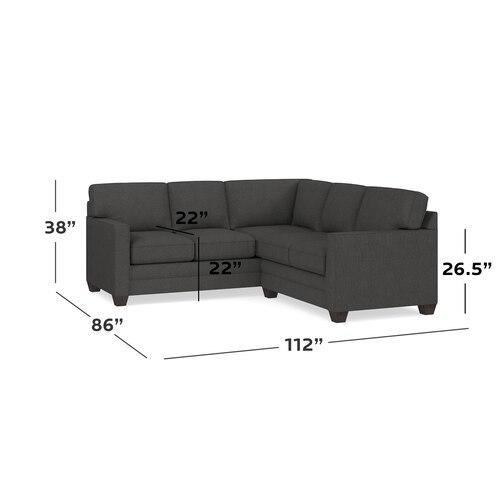 Fog Alexander Track Arm Small L Sectional