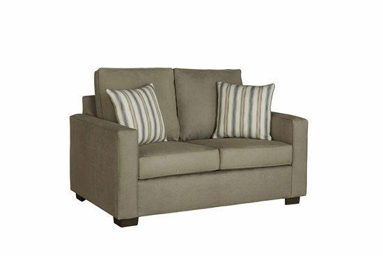 Love Seat - Shown in 109-11 Stone Microfiber Finish