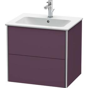 Vanity Unit Wall-mounted, Aubergine Satin Matte (lacquer)