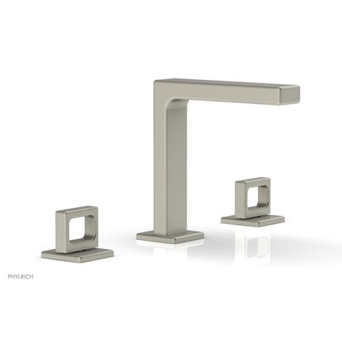 """MIX Widespread Faucet - Ring Handles 6-3/4"""" Height 290-03 - Burnished Nickel"""