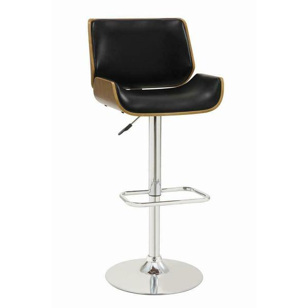 See Details - Contemporary Black Adjustable Height Bar Stool