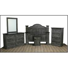 See Details - Gray/brown Ana Bed W/ Budget Case Goods