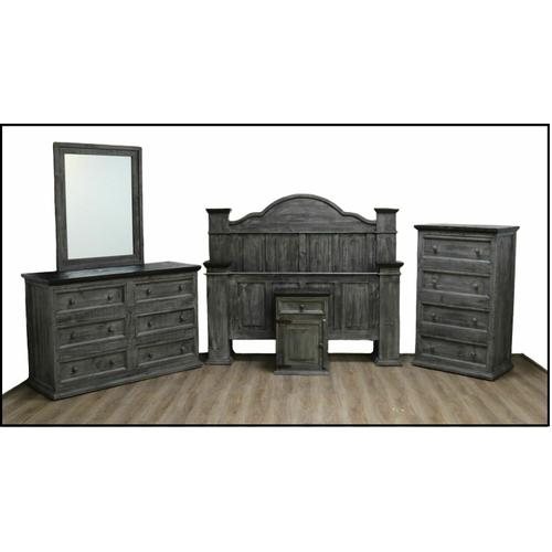 Million Dollar Rustic - Gray/brown Ana Bed W/ Budget Case Goods