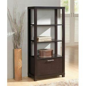 ACME Carmeno Bookcase - 92065 - Espresso