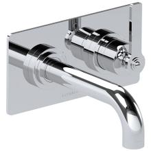 "Chrome Plate 2 Hole wall mounted tub mixer, right handed, 7 1/4"" spout length"